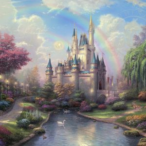 A New Day at Cinderella's Castle by Thomas Kinkade