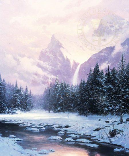 art-switzerland-snow Thomas Kinkade