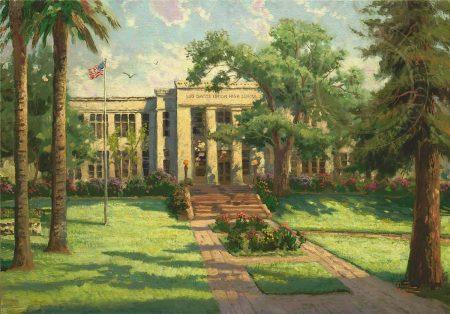 Los Gatos High School by Thomas Kinkade