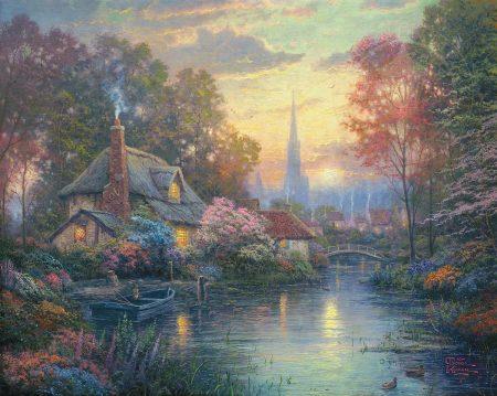 Nanette's Cottage by Thomas Kinkade