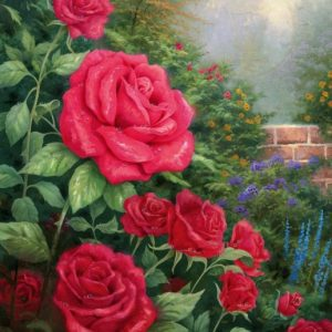 A Perfect Red Rose by Thomas Kinkade