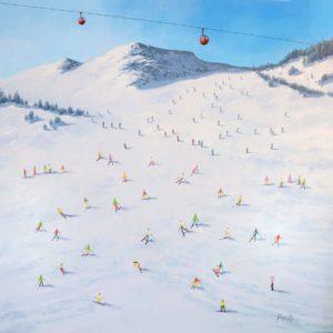 original-painting-snow-skier